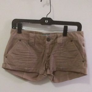 Tan cargo shorts (top sold separately)